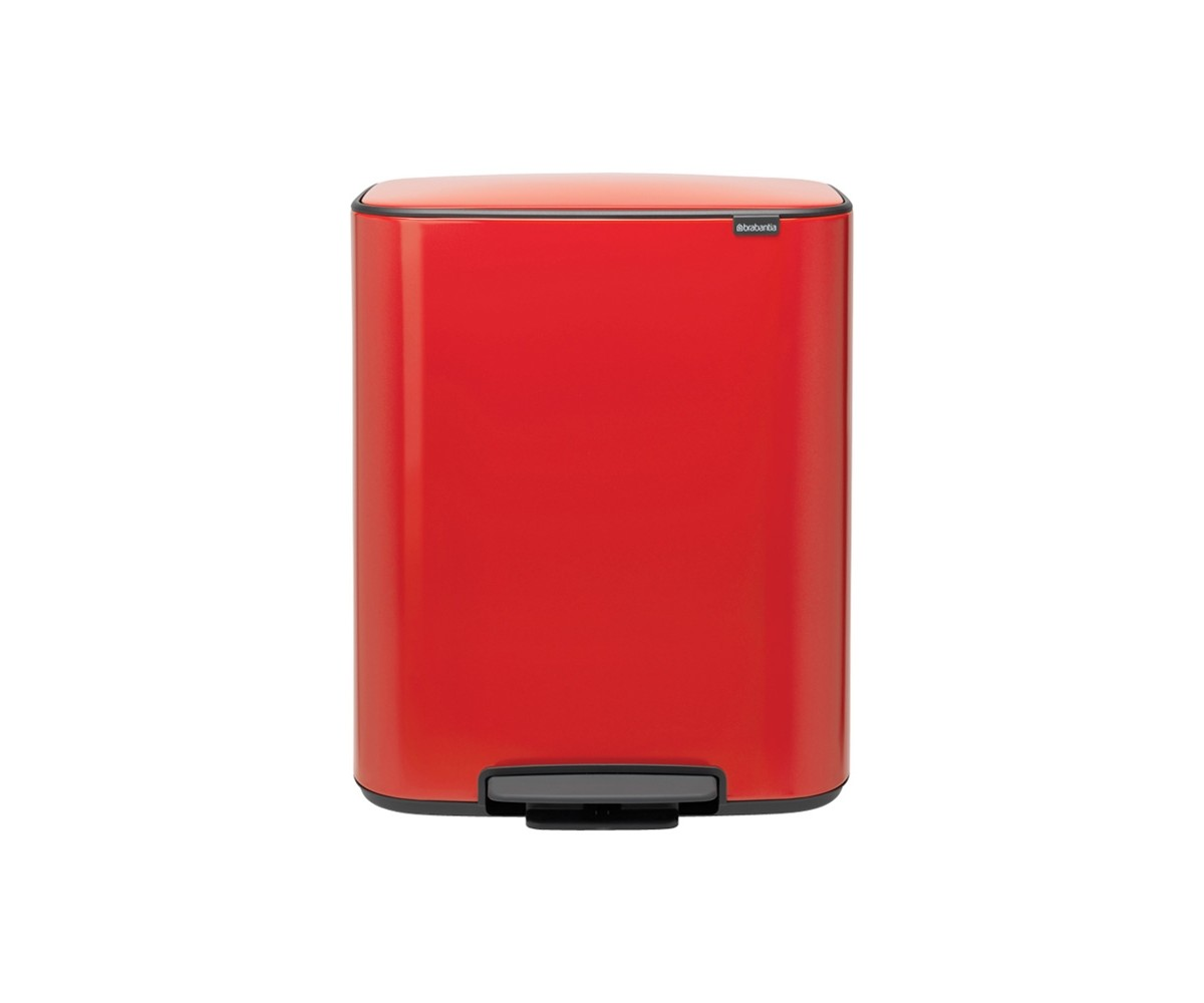 Bo Pedalspand 2 x 30 L.- Passion Red - Brabantia