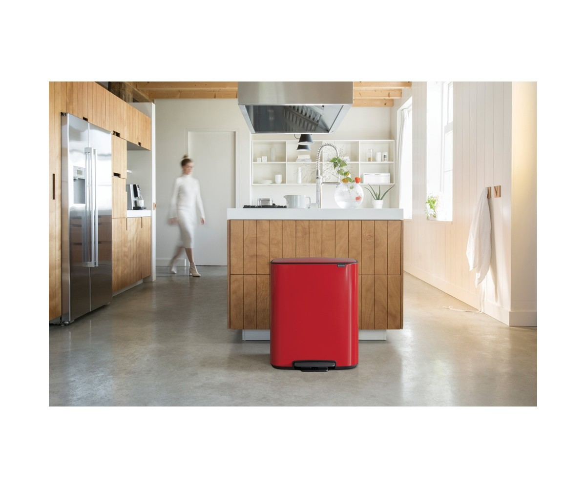 Bo Pedalspand 2 x 30 L. Passion Red Brabantia-051