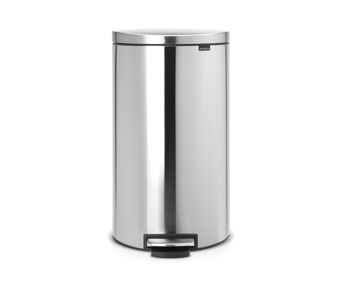 Brabantia Flatback Pedalspand 30 Liter med Soft Close - Matt Steel