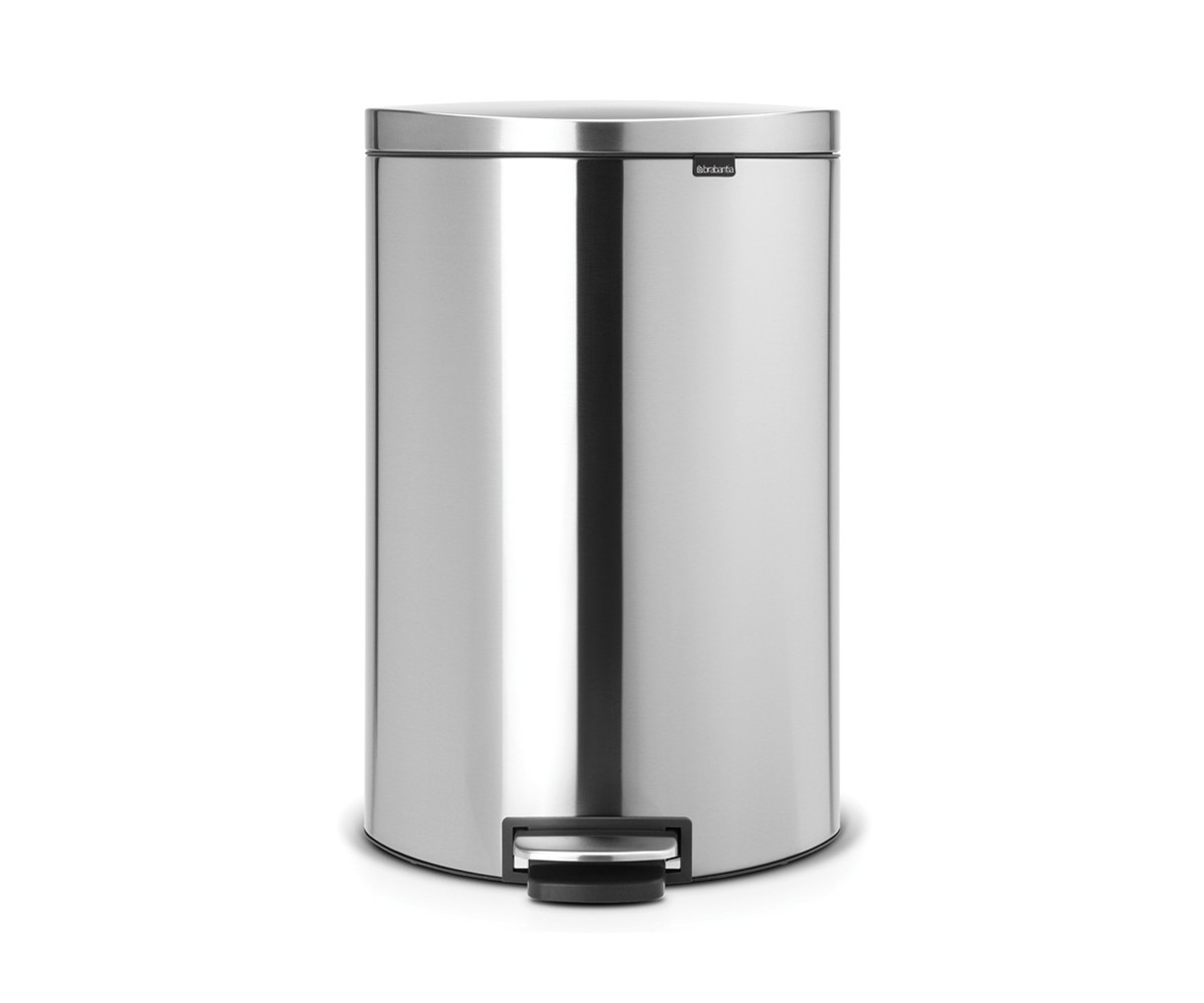 Brabantia Flatback Pedalspand 40 Liter med Soft Close - Matt Steel Fingerprint Proof