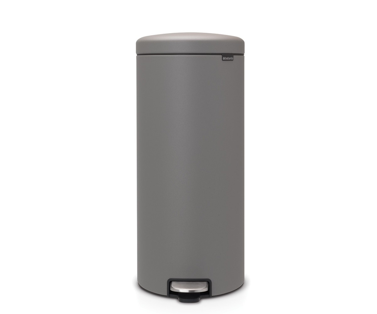 Brabantia Pedalspand 30 liter - Mineral Concrete Grey