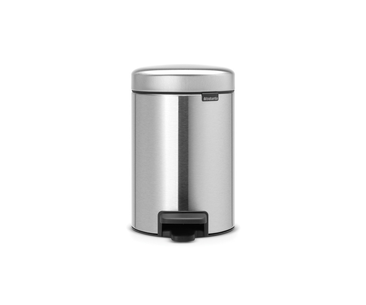 Brabantia Pedalspand 3 liter - Matt Steel Fingerprint Proof