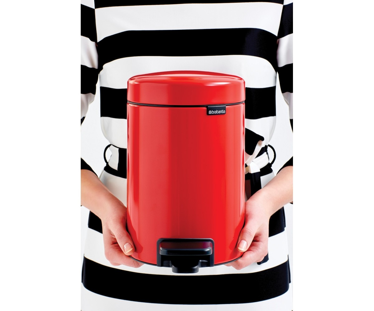 Brabantia Pedalspand 3 liter Passion Red-09