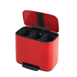 Bo Pedalspand 3x11 L. Passion Red Brabantia-20