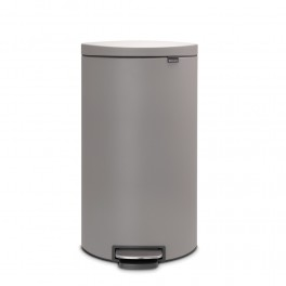 Brabantia Flatback Pedalspand 30 Liter med Soft Close - Mineral Concrete Grey