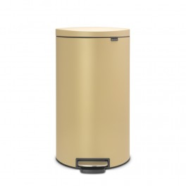 Brabantia Flatback Pedalspand 30 Liter med Soft Close - Mineral Golden Beach