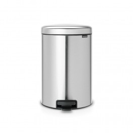 Brabantia Pedalspand 20 liter - Matt Steel Fingerprint Proof